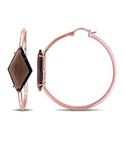 V1969 ITALIA Smoky Quartz Prism Hoop Earrings