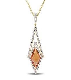 V1969 ITALIA White Sapphire and Citrine Prism Necklace