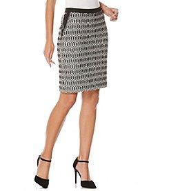 Rafaella® Geo Jacquard Ponte Skirt