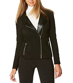 Rafaella® Ponte Moto Jacket With Faux Leather Trim