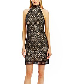 Nicole Miller New York™ Mock Neck Lace Dress
