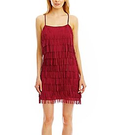 Nicole Miller New York® Chiffon Fringe Flapper Dress