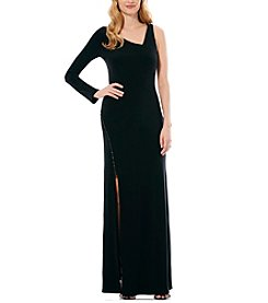 Laundry by Shelli Segal® Assymetrical Gown With Hardware