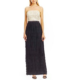 Nicole Miller New York® Strapless Sequin And Fringe Dress
