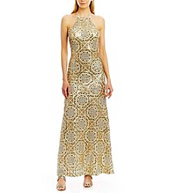 Nicole Miller New York™ Pattern Sequin Gown Dress