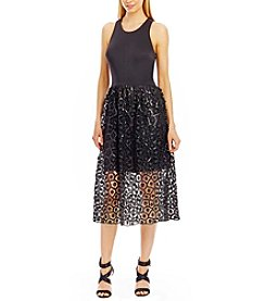 Nicole Miller New York™ Scuba And Sequin Lace Dress