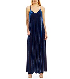 Nicole Miller New York™ Spaghetti Strap Stretch Velvet Dress
