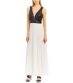 Nicole Miller New York® Sequins And Pleated Chiffon Dress