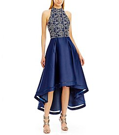 Nicole Miller New York® Sequin And Satin High Low Dress