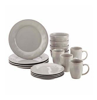 Rachael Ray® Cucina Grey 16-pc. Stoneware Dinnerware Set