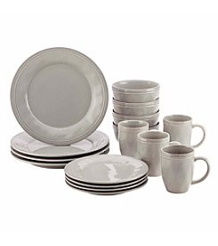 Rachael Ray® Cucina Grey 16-pc. Stoneware Dinnerware Set