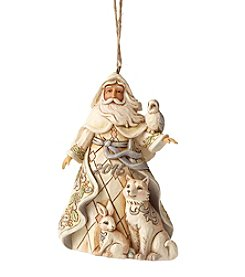 Heartwood Creek® by Jim Shore White Woodland Santa 2016 Dated Ornament