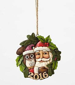 Heartwood Creek® by Jim Shore Santa With Owl 2016 Dated Ornament