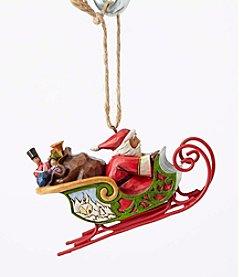 Heartwood Creek® by Jim Shore Santa In Sleigh Ornament