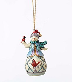 Heartwood Creek® by Jim Shore Snowman With Cardinal Ornament