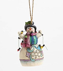 Heartwood Creek® by Jim Shore Snowman Wrapped In Lights Figurine