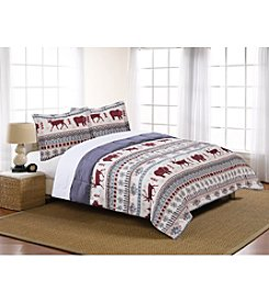 LivingQuarters Winter Wonderland Microfiber Down Alternative Comforter