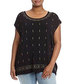 Rafaella® Plus Size Heatset Knit Tee