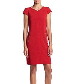 Madison Leigh® Zipper Detail Pockets Sheath Dress