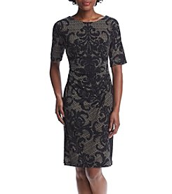 Connected® Petites' Printed Sheath Dress