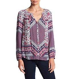 Lucky Brand® Mixed Floral Peasant Top