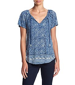 Lucky Brand® Geometric Border Top