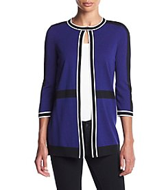 Kasper® Open Trim Cardigan