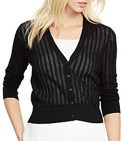 Lauren Ralph Lauren® Pointelle-Knit Cotton Cardigan