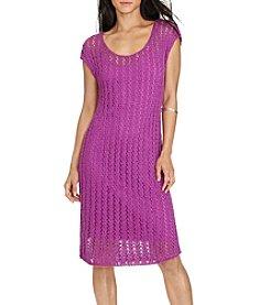 Lauren Ralph Lauren® Open-Knit Sweater Dress