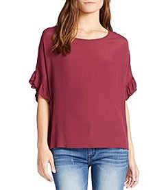 William Rast® Ruffle Flutter Sleeve Top
