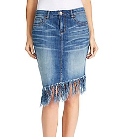 William Rast® Denim Fringe Skirt