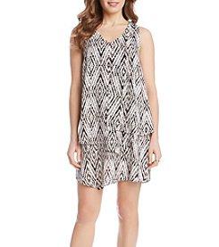 Karen Kane® Diamond Layered Dress