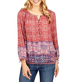 Lucky Brand® Tapestry Top