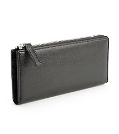 Royce® Leather RFID Blocking Continental Fan Wallet