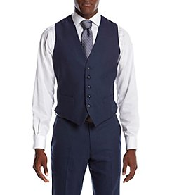 Perry Ellis® Men's Slim Fit Sharkskin Suit Seperates Vest