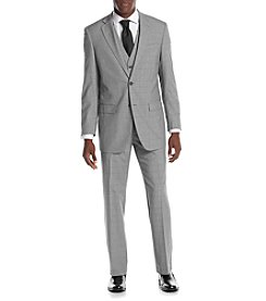 Perry Ellis® Men's Slim Fit Gray Plaid Suit Separates