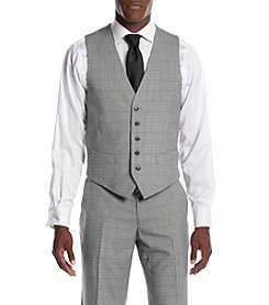 Perry Ellis® Men's Slim Fit Plaid Suit Separates Vest