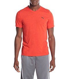 PUMA® Men's Essential Short Sleeve V-Neck Tee