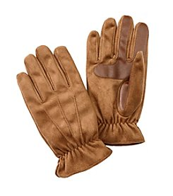Isotoner Signature® Men's Smartouch Brushed Microfiber Gloves