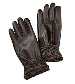 Isotoner Signature® Men's Faux Napa Leather Gloves