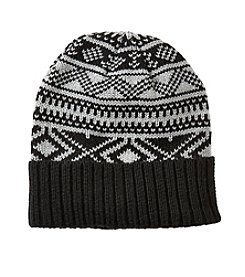 John Bartlett Statements Men's Knit Fair Isle Cuff Beanie