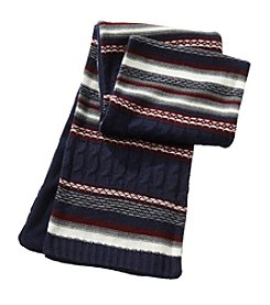 John Bartlett Statements Mixed Knit Text Scarf