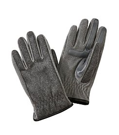Isotoner Signature® Men's Smartouch Wool Gloves with Faux Leather Trim