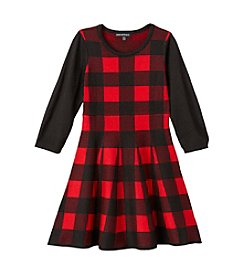 Sequin Hearts® Girls' 7-16 Buffalo Plaid Dress