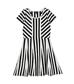 Sequin Hearts® Girls' 7-16 Striped Dress