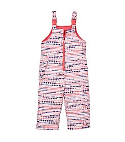 8London Fog® Girls' 2T-6X Heart Snowbibs
