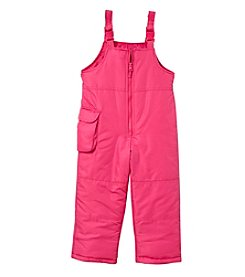 London Fog® Girls' 2T-6X Snowbibs