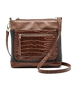 GAL Colorblock Croco Multi Pocket Crossbody