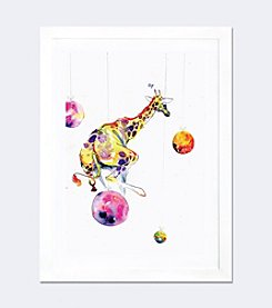 iCanvas Planet Hopper by Black Ink Art Framed Fine Art Paper Print