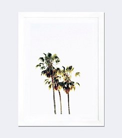 iCanvas The Palms Blanc by Chelsea Victoria Framed Fine Art Paper Print